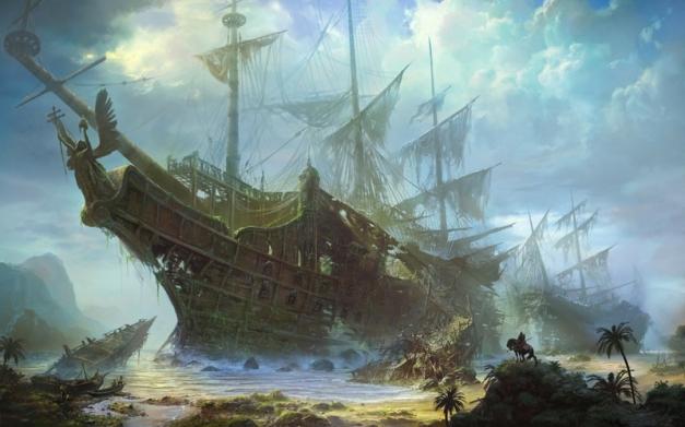 ships fantasy art artwork sailing ships 2000x1250 wallpaper_www.wall321.com_5