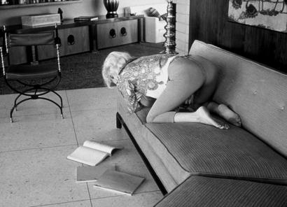 Marilyn Monroe reading a script. Original Photo
