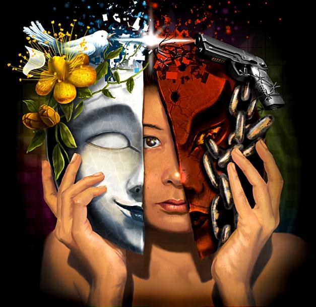 'Good vs evil't by Isabel Castaño