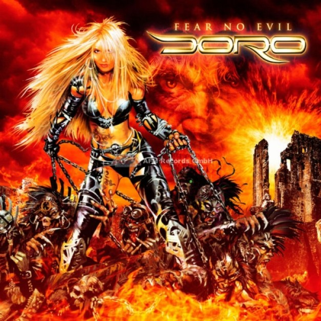Cover art of the CD. Doro - Fear no Evil