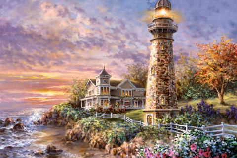 Majestic Guardian Lighthouse by Nicky Boehme