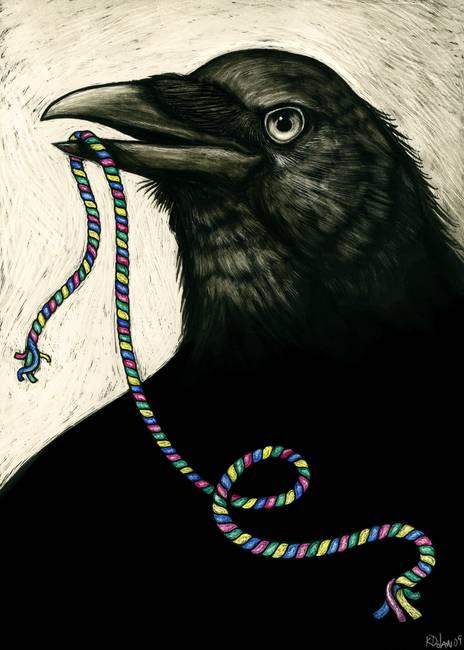 Crow-with-Candy-Rope_art