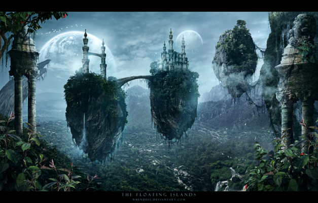 The Floating Islands by Whendell on Deviantart