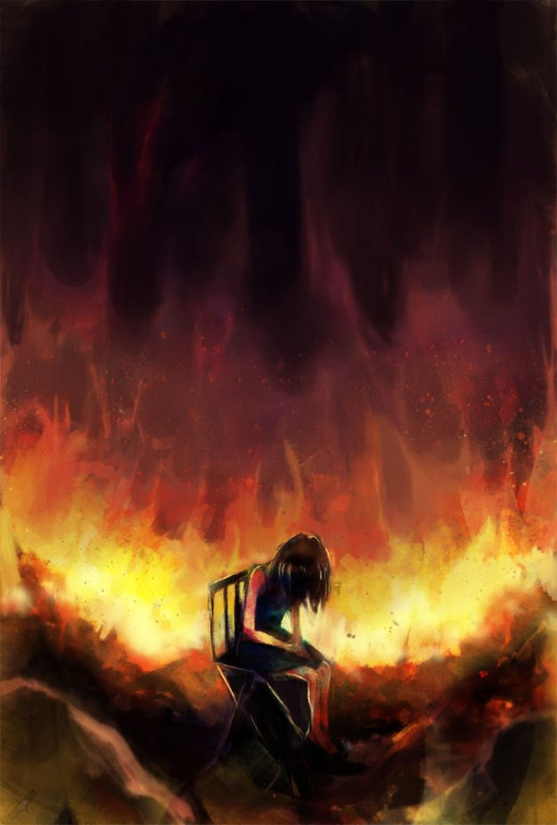 Art 'As my world burns apart' by Paintausea at Deviantart